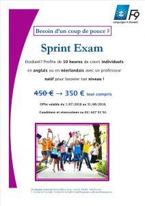 Sprint Exam 2016